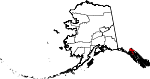 Map of Alaska showing Haines Borough