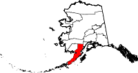 Map of Alaska showing Lake and Peninsula Borough