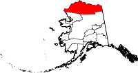 Map of Alaska showing North Slope Borough