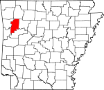 Map of Arkansas showing Franklin County