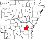 Map of Arkansas showing Lincoln County