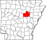 Map of Arkansas showing White County