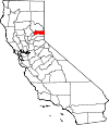 Map of California showing Sierra County