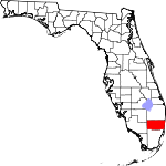 Map of Florida showing Broward County