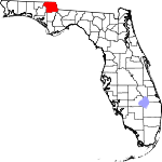 Map of Florida showing Jackson County