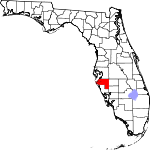 Map of Florida showing Manatee County