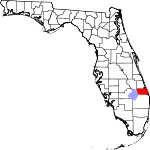 Map of Florida showing Martin County