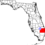 Map of Florida showing Palm Beach County
