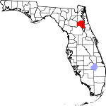 Map of Florida showing Putnam County