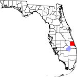 Map of Florida showing St. Lucie County