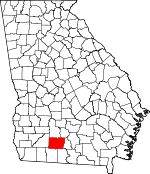 Map of Georgia showing Colquitt County