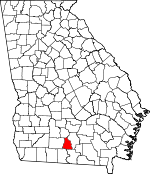 Map of Georgia showing Cook County