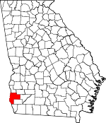 Map of Georgia showing Early County