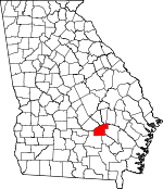 Map of Georgia showing Jeff Davis County
