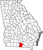 Map of Georgia showing Lowndes County