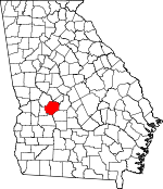 Map of Georgia showing Macon County