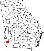 Map of Georgia showing Miller County