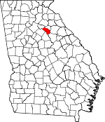 Map of Georgia showing Oconee County