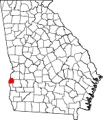 Map of Georgia showing Quitman County