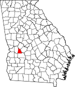 Map of Georgia showing Schley County