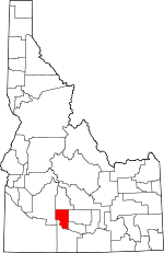 Map of Idaho showing Gooding County