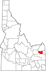 Map of Idaho showing Madison County
