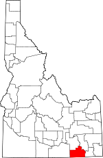 Map of Idaho showing Oneida County