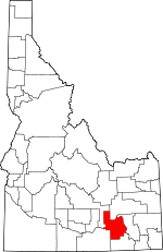 Map of Idaho showing Power County