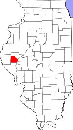 Map of Illinois showing Brown County