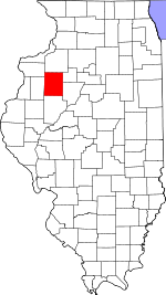Map of Illinois showing Knox County