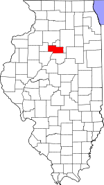 Map of Illinois showing Marshall County