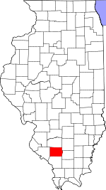 Map of Illinois showing Perry County