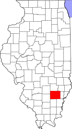 Map of Illinois showing Wayne County