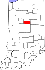 Map of Indiana showing Howard County