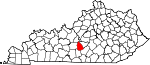 Map of Kentucky showing Green County