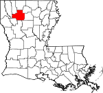 Map of Louisiana showing Bienville Parish
