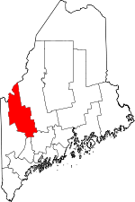 Map of Maine showing Franklin County