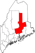 Map of Maine showing Penobscot County