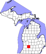 Map of Michigan showing Barry County