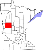 Map of Minnesota showing Otter Tail County