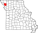 Map of Missouri showing Andrew County