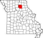 Map of Missouri showing Macon County
