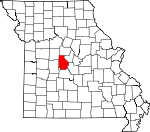 Map of Missouri showing Morgan County