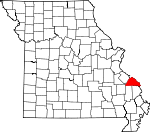 Map of Missouri showing Perry County