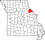 Map of Missouri showing Pike County