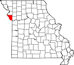 Map of Missouri showing Platte County