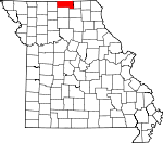 Map of Missouri showing Putnam County
