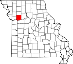 Map of Missouri showing Ray County