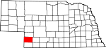 Map of Nebraska showing Chase County