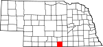 Map of Nebraska showing Franklin County